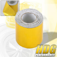 "2""X15' Roll Self Adhesive Gold Tape Reflective High Temperature Heat Shield Wrap"