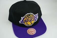 Los Angeles Lakers Mitchell & Ness NBA 8-Bit Two-Tone Purple Snapback Hat Cap