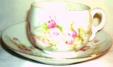 Cup & Saucer - China - C&EG Royal Austria - Pink Cornflowers