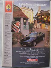 Maserati Quattroporte Original advert No.1