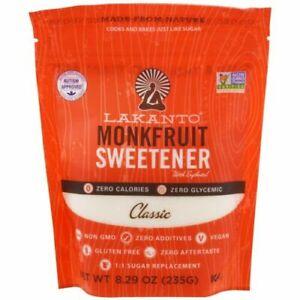 Lakanto, Monkfruit Sweetener with Erythritol, Classic, 8.29 oz (235g)