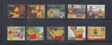 Japan 2014 Disney Winnie the Pooh Complete Used Set of 10 Sc# 3685 a-j 82Y