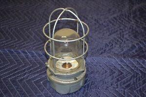 VTG Benjamin Explosion Proof Industrial Cage Light Cast Iron Steampunk Art Deco