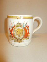 Vintage Commemorative Mug Silver Jubilee George V & Queen Mary 1910 - 1935