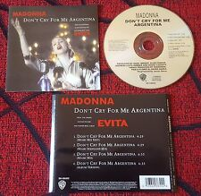 MADONNA **Don't Cry For Me Argentina ** VERY SCARCE 1996 Mexican CD Single