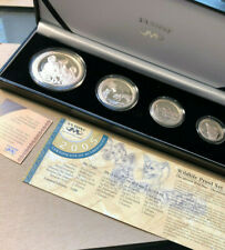 2005 South Africa Wildlife Proof, African Wild Dogs, 4 Silver Coin Set 1,500 mtg