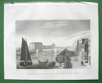 HOLLAND Amsterdam View of Zuyder Zee - 1830 Antique Print Engraving