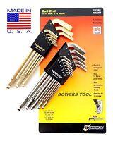 Bondhus 22pc GoldGuard BrightGuard Ball End Hex L Wrench Set Metric SAE Inch USA