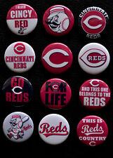 Cincinnati Reds Baseball - Set of 12 Buttons (>Free Shipping<)