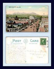 CALIFORNIA RIVERSIDE EIGHTH ST CIRCA 1910 TO MRS. ANDREW OLSON, McCALLSBURG IOWA