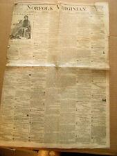 CIVIL WAR CONFEDERATE VETERANS VOTE 1867 NORFOLK VIRGINIA NEWS