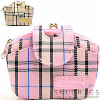 Ladies / Womens / Girls Small Checked / Tartan Style Purse