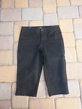 """NYDJ  NOT YOUR DAUGHTERS JEANS Black """"SKIMMER"""" Long Shorts/Capris.  Size 2"""