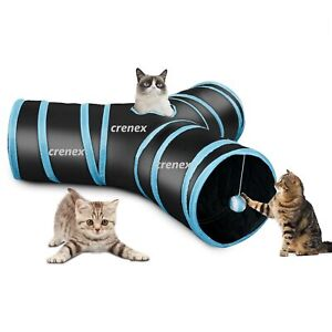 Pet Cat Tunnel 3 Way Kitten Toy Rabbit Play Tube Y-Shape Training Hairball Tree