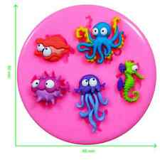 Under the Sea Fish Seahorse Octopus Squid Silicone Mould by Fairie Blessings