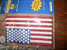Beaded Banner Kit American Glory Beaded Banner USA Flag Package Opened