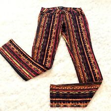 Celebrity Pink Womens Jeans Sz 3 S Short Stretch Low Rise Skinny Aztec Neon New