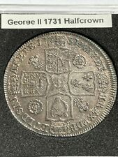 More details for 1731 king george ii silver half crown - extremely high grade