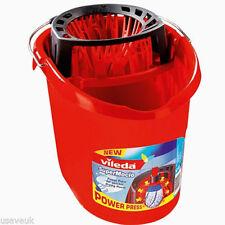 Vileda Supermocio Mop Bucket With PowerPress Wringer - Red 122240