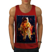 Wellcoda Astronaut Galaxy Space Mens Tank Top, Space Active Sports Shirt