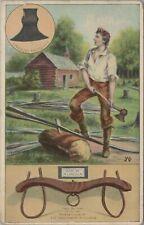 Postcard Abraham Lincoln Broad Ax + Ox Yoke University Illinois