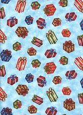 Christmas Frosty Friends Presents 1 Fat Quarter cotton quilt fabric quilting
