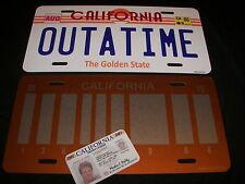 Back to the Future / Delorean / OUTATIME LICENSE PLATE ULTIMATE COLLECTORS SET