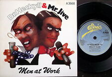 "MEN AT WORK-DR HECKYLL AND MR JIVE /NO RESTRICTIONS-UK Epic 7"" PS 1983-Excellent"