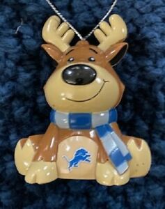 Detroit Lions Reindeer Christmas Holiday Tree Ornament FREE USA SHIPPING