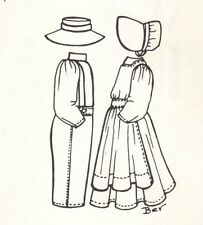 """See re-size chart. This Sewing Clothes Pattern fits 17"""" 18"""" Amish Country style"""