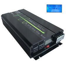 3000W Pure Sine Wave Power Inverter 12V/24V/48V DC to 110V AC for Car/Home Solar