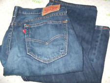 "LEVI 569 VERY SHORT JEANS 33/24 BLUE WASH STITCH POCKETS $69 pants 24"" INSEAM"