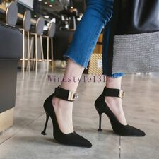 Women's Fashion Pointed Toe Suede High Stiletto Heels Party Clubwear Shoes Sexy