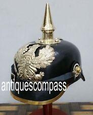 German Prussian Helmet German Leather Pickelhaube Helmet Imperial Officer Helmet