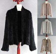 Hot Sell Top Quality Women Genuine Real Knitted Rabbit Fur Jacket Coat Cardigan