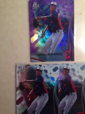 Triston McKenzie 2017 Bowman Platinum Purple # 35/250  & 2 Bowman Platinum Base