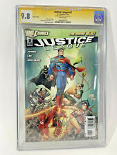 Justice League 3 CGC SS 9.8 Greg Capullo Signed Variant Cover Jim Lee Superman