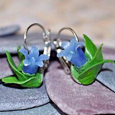 Bluebell Earrings, Handmade Polymer Clay. Boho, Spring, Summer, Flowers, Nature