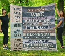 Husband To My Wife You Are My love My Life The Only Plush Fleece Blanket