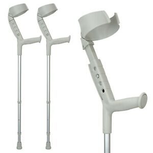 ORTONYX Walking Forearm Crutches Ergonomic Handle with Comfy Grip