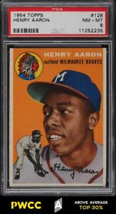 1954 Topps Hank Aaron ROOKIE RC #128 PSA 8 NM-MT (PWCC-A)