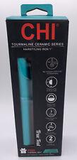CHI True Teal Classic Tourmaline Ceramic Hair Straightener Iron Free Thermal Mat
