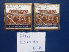 Berlin 1988, Weihnachten, Michel 829, ** und o