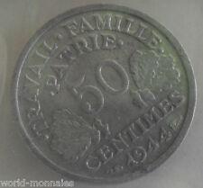 50 centimes état français 1944 B : TB : pièce de monnaie française