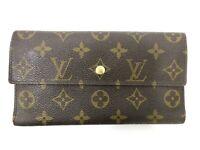 Auth Louis Vuitton Monogram Portefeuille International M61217 Long Wallet 92020