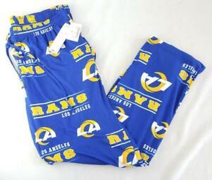 -= NFL Team Apparel Los Angeles Rams Mens Large Pajama Pants Drawstring NEW