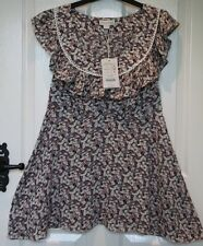 BNWT - £48 - Monsoon Dakota Ditsy Flower Print Frill Neck Sleeveless Top - 12
