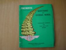 Workshop Manual Service Manual 1963 Continental Aircraft Engines 0-470 10-470