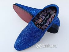 b48b5ca6ce5 Men Vintage Glitter Stage Dress Shoes Tuxedos Loafers Slip On Classic SpK  4.5.12