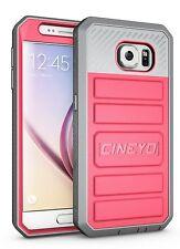 Galaxy S6 Case, CINEYO(TM) Heavy Duty Belt Clip Holster Case, Full-body Rugged H